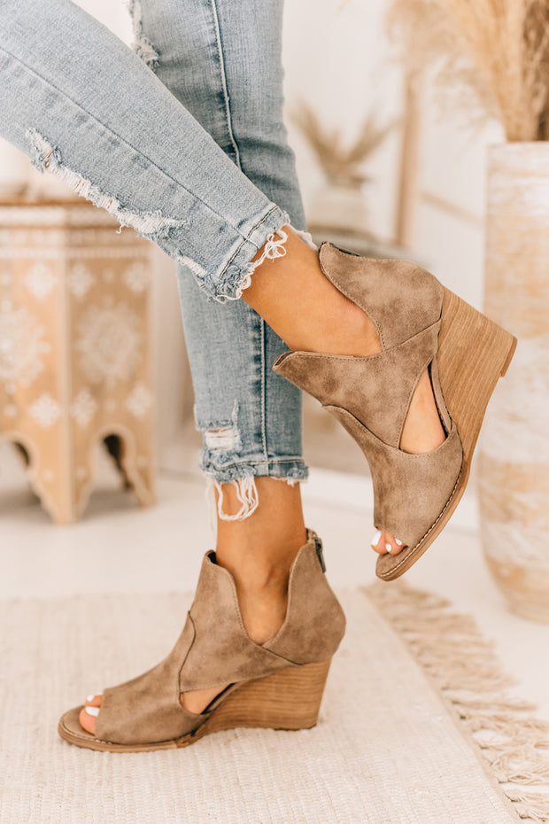 Come What May Cut Out Wedges (Taupe) - NanaMacs