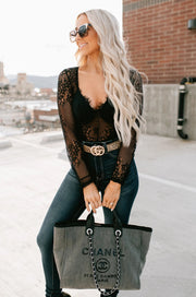 Break Every Rule Open Lace Bodysuit (Black) - NanaMacs