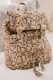 Bad Reputation Snake Skin Backpack (Snake) - NanaMacs