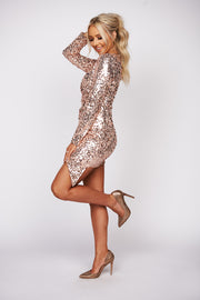 Keep Things Interesting Sequin Mini Dress (Pink)