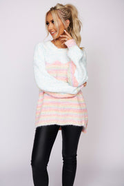 Coolest Girl Popcorn Knit Sweater (Pastel Combo) - NanaMacs