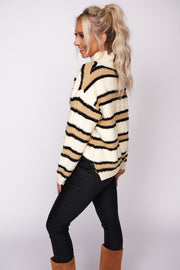 Cozy Feels Color Block Sweater (Natural Combo) - NanaMacs