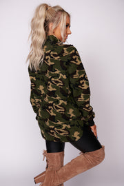 Best Of My Love Camouflage Print Sherpa Pullover (Camo)