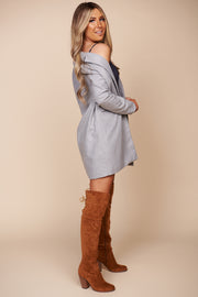 Drew Button Up Coat (Heather Grey)