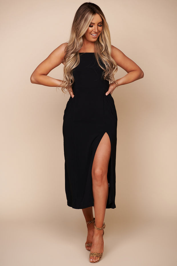 Before The Storm Midi Dress (Black)