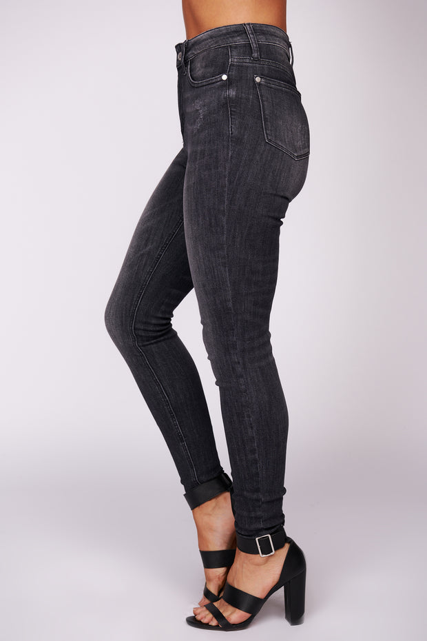 Look At Me High Waisted Jeans (Grey)