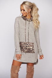 Take You Away Leopard Print Knit Sweater (Taupe) - NanaMacs