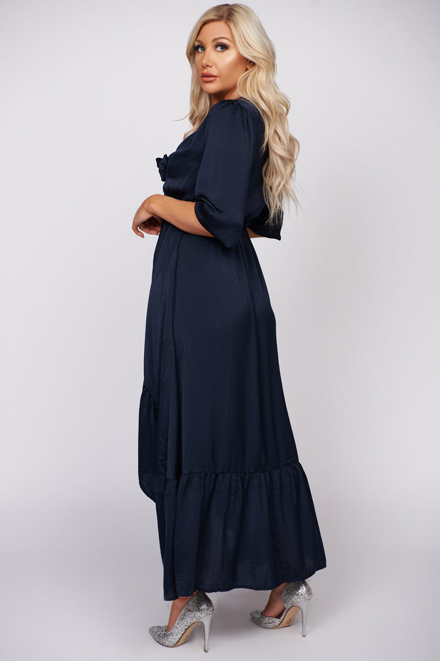 Open Your Heart High-Low Maxi Dress (Navy)