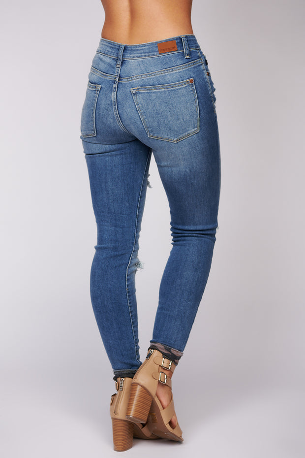 Jocelyn Distressed Skinny Jeans (Medium Wash) - NanaMacs
