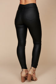 Get A Move On Faux Leather Pants (Black)