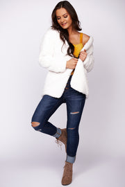 Morning Love Reversible Hooded Cardigan (Ivory)