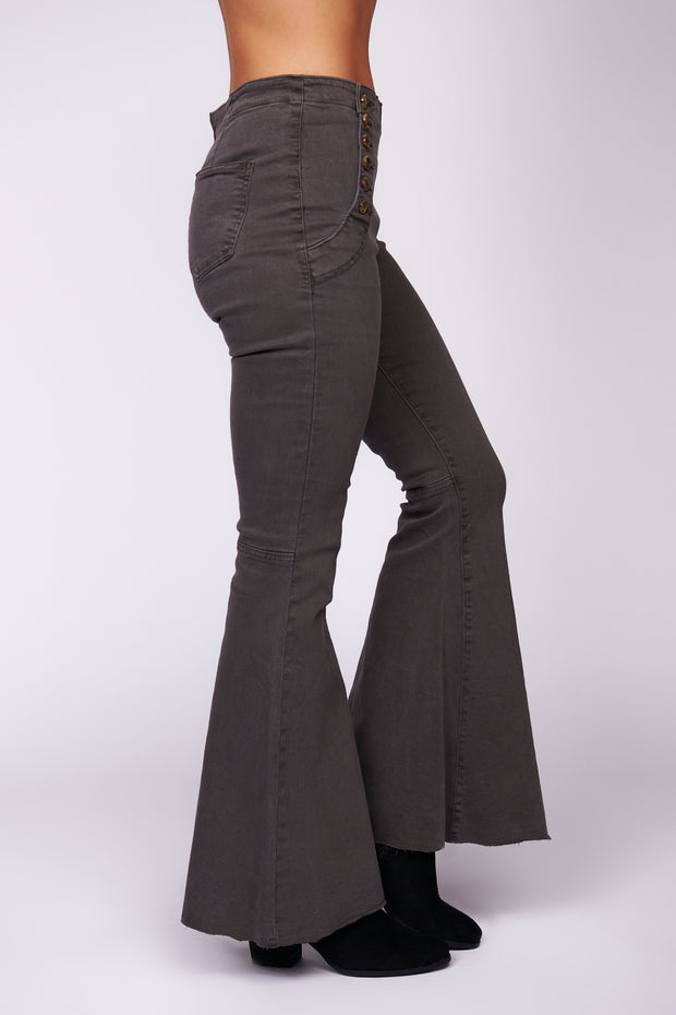 Always On The Move Flared Pants (Charcoal)