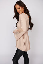 Secrets Of The Heart Bell Sleeve Top (Natural)