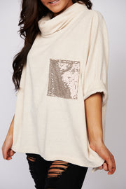 This Is It Chenille Turtle Neck Sweater (Ivory) - NanaMacs