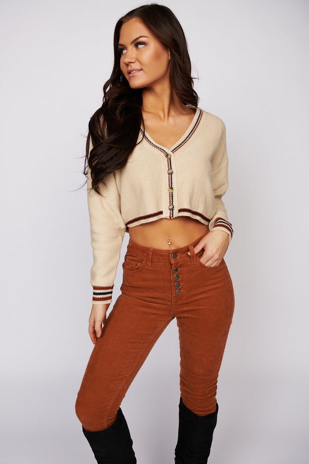 It's What You Need Cropped Sweater (Camel)