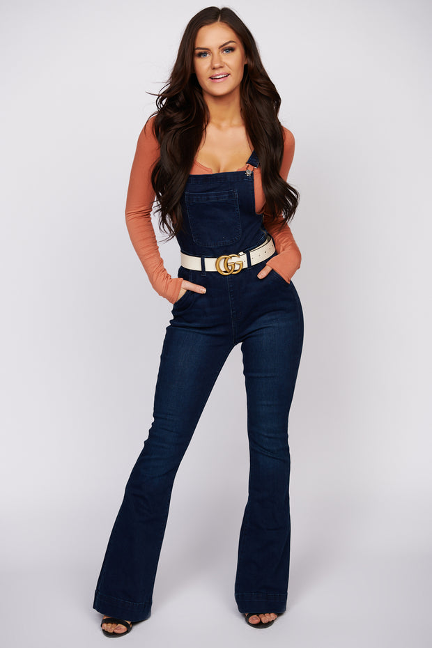 Keeping It Together Denim Overalls (Dark Wash)