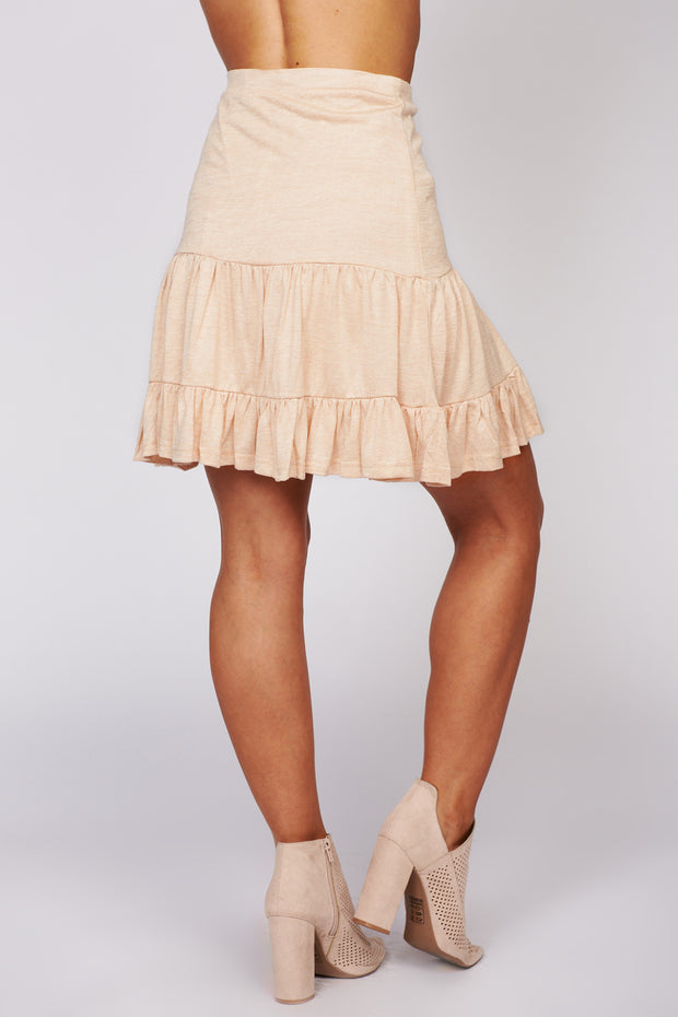 One At A Time Ruffle Mini Skirt (Blush)