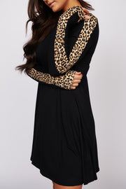 Call Of The Wild Long Sleeve Dress (Leopard) - NanaMacs
