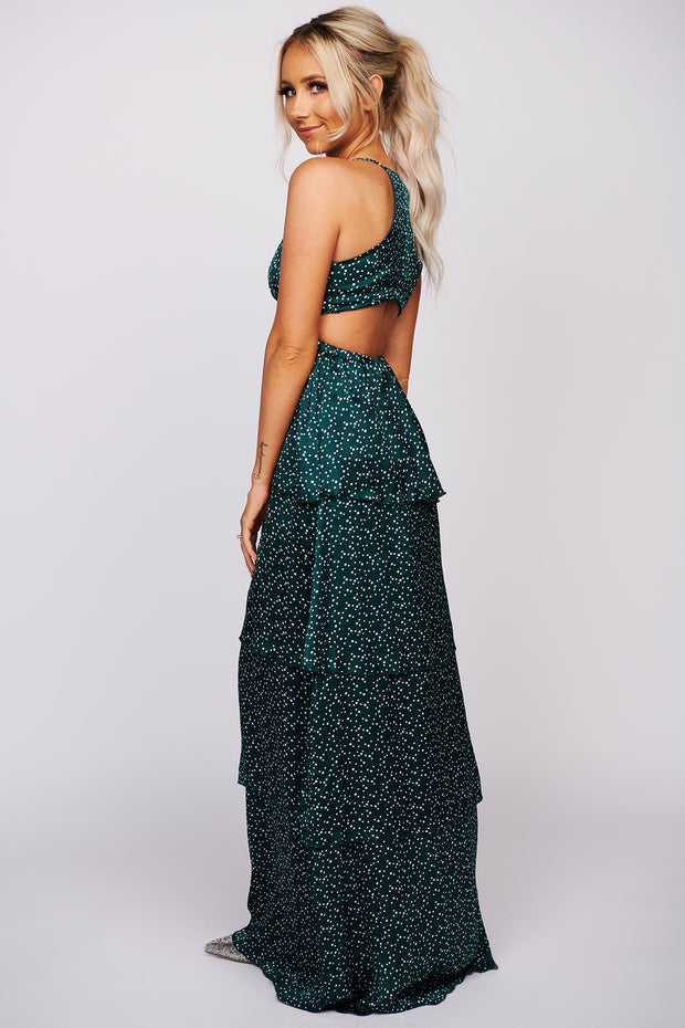 What Do I Have To Do Open Back Dress (Dark Green) - NanaMacs