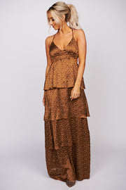 What Do I Have To Do Open Back Dress (Caramel) - NanaMacs
