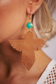 Fly High Dangle Earrings (Brown) - NanaMacs