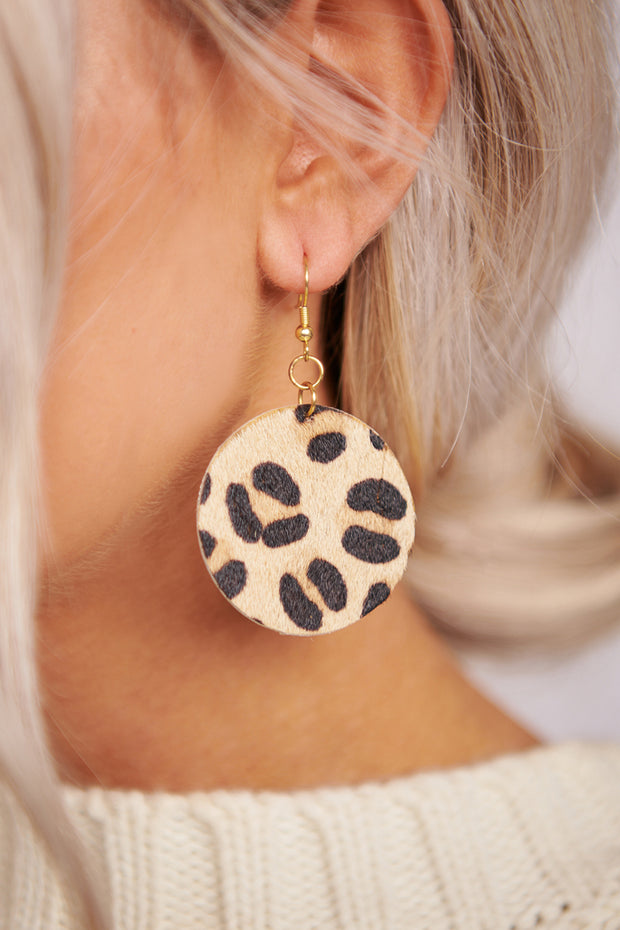 The Beauty Of It Dangle Earrings (Leopard) - NanaMacs