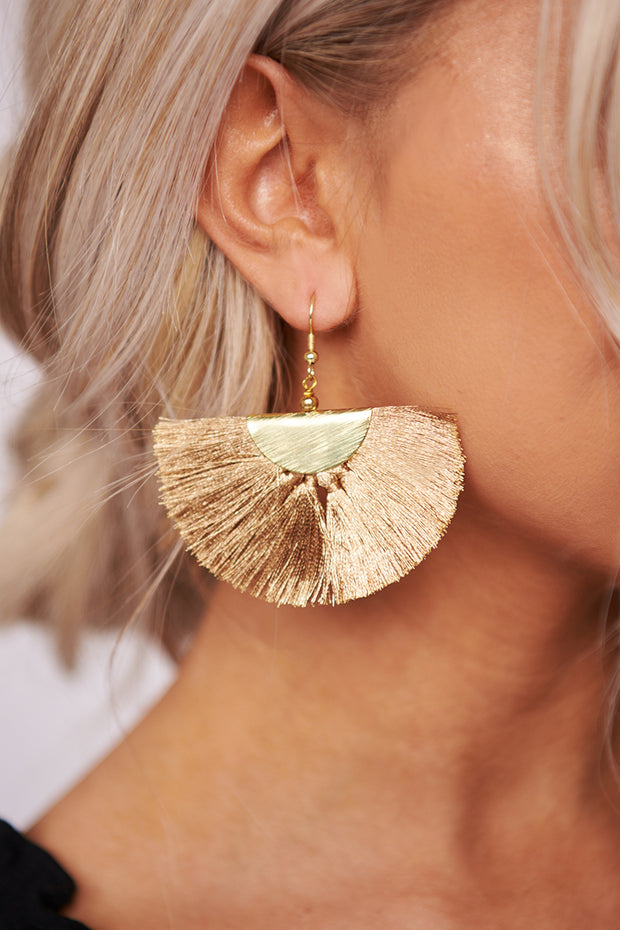Shine Down On Me Dangle Earrings (Gold)