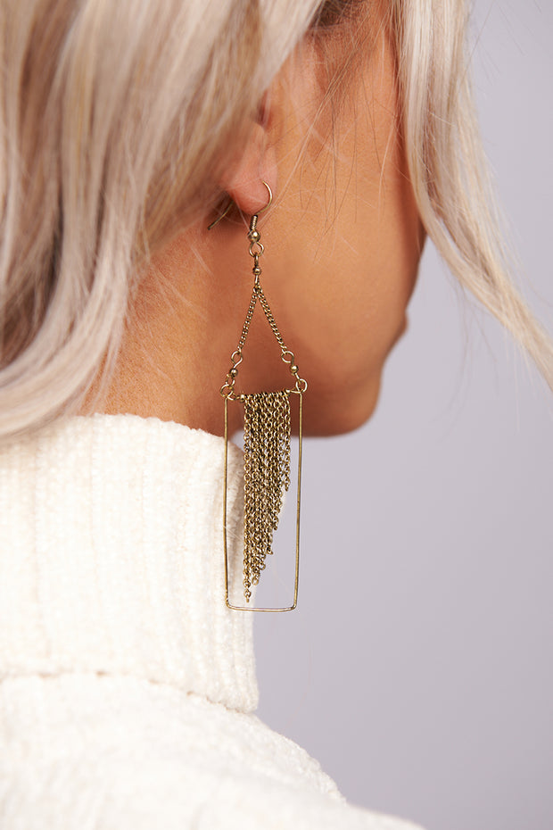 For The Last Time Dangle Earrings (Antique Gold)
