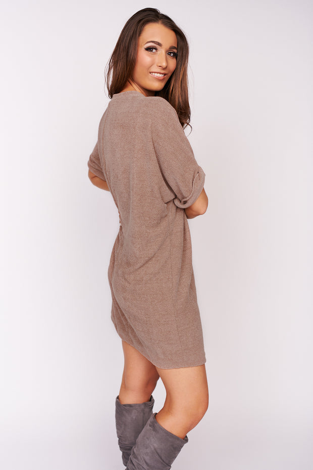 Perfect Connection Chenille Dress (Mocha)