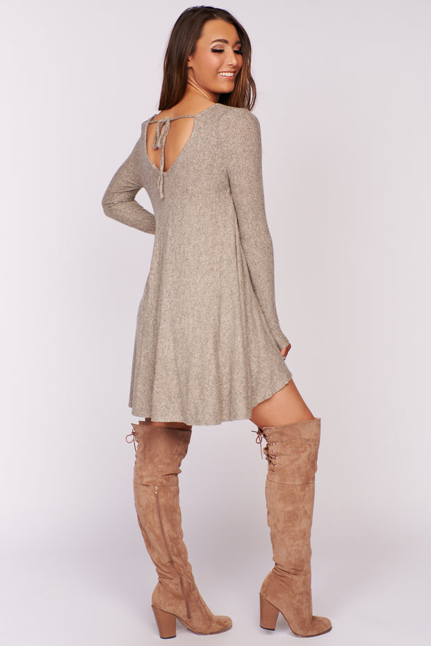 Remember Me High Low Dress (Taupe)