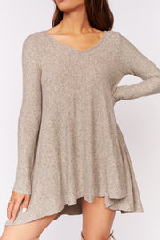 Remember Me High Low Dress (Taupe) - NanaMacs