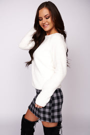 By The Firelight Sherpa Sweater (Ivory) - NanaMacs