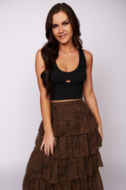 A Love I Knew Ribbed Crop Top (Black) - NanaMacs