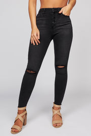 Hear The Raven Distressed Jeans (Black)