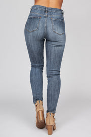 Undercover High Waisted Distressed Jeans (Medium Wash)