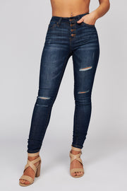 Fill Me In Ripped Jeans (Dark Blue)