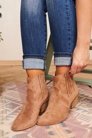 Love Or Hate Me Faux Suede Booties (Almond) - NanaMacs