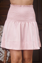 Raine Smocked Skirt (Mauve) - NanaMacs