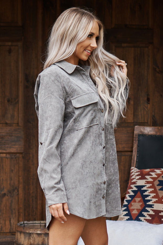 Out Of The Woods Button Down Shirt (Grey)