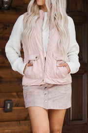 Beat The Cold Vest (Light Pink)