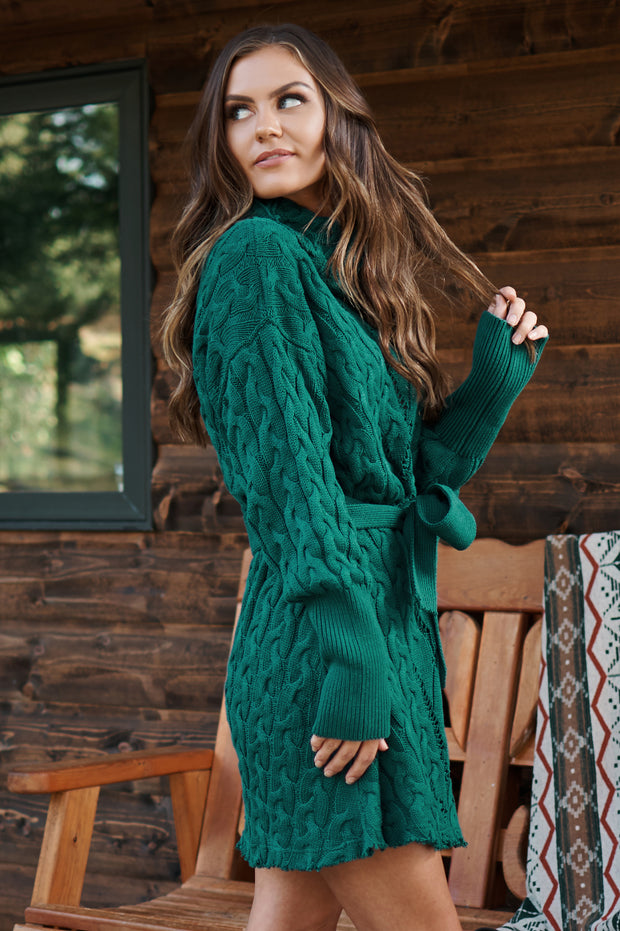Keep The Envy Sweater Dress (Green)