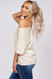 Chase Your Dreams Sequin Velvet Top (Shell) - NanaMacs