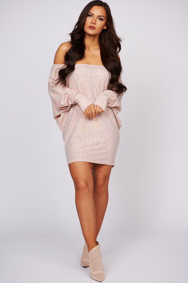Written In The Stars Sequin Tunic (Blush)