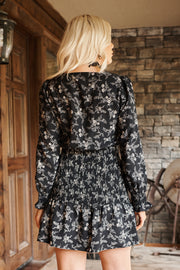 Flower Bomb Floral Dress (Black) - NanaMacs