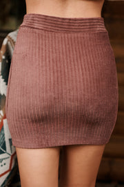Top Of The List Skirt (Dark Burgundy) - NanaMacs