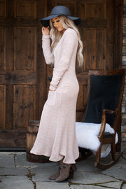 Be My Forever Duster Cardigan (Dusty Pink)