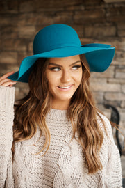 Edge Of Town Boho Hat (Teal)