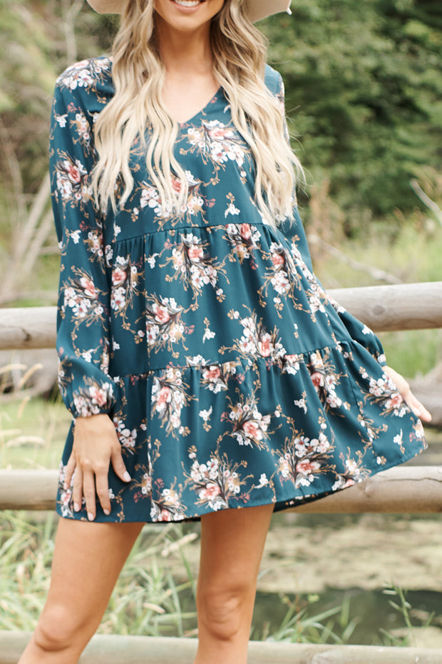 Buy Me Flowers Dress (Hunter Green) - NanaMacs