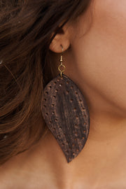 So Heartless Drop Earrings (Brown)