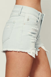 Good Idea Distressed Shorts (Light Denim) - NanaMacs
